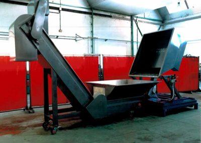 Volteador con células de carga con control de peso