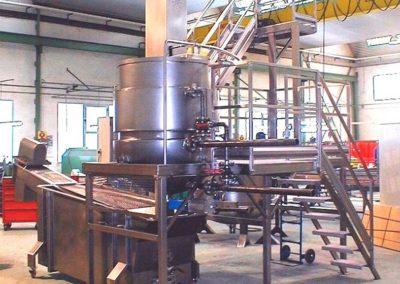 Bacina mezcladora con plataforma